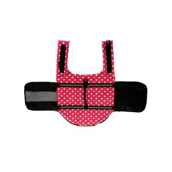 Versatile Polka Dot Pets Swimwear Dog Safety Swim Vest - PINK S