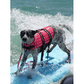 Versatile Polka Dot Pets Swimwear Dog Safety Swim Vest