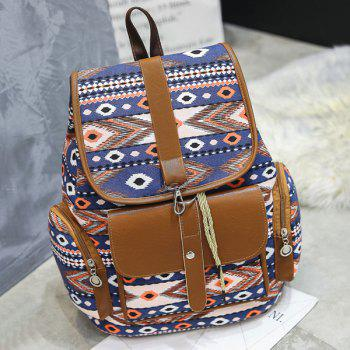 Canvas Tribal Printed Backpack
