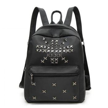 Nylon Cross Rivets Backpack