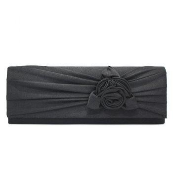 Flower Satin Evening Clutch Bag