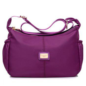 Casual Zips Nylon Cross Body Bag - PURPLE PURPLE