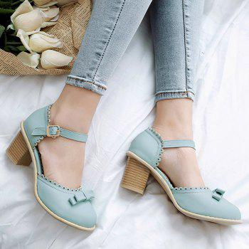 Bow Scalloped Faux Leather Pumps