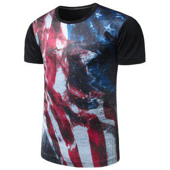 Animal Flag Pattern Tee