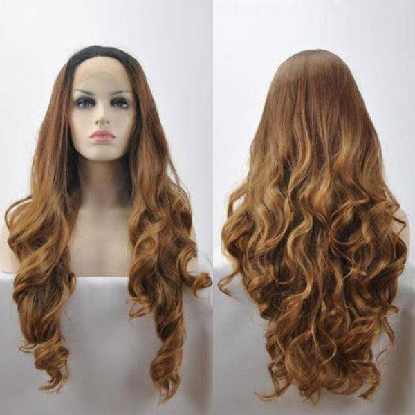 Wavy Long Lace Front Synthetic Wig - COLORMIX