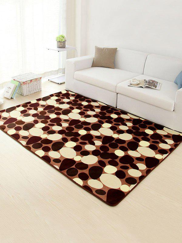 Stone Antislip Soft Room Floor Rug - BROWN 50*80CM