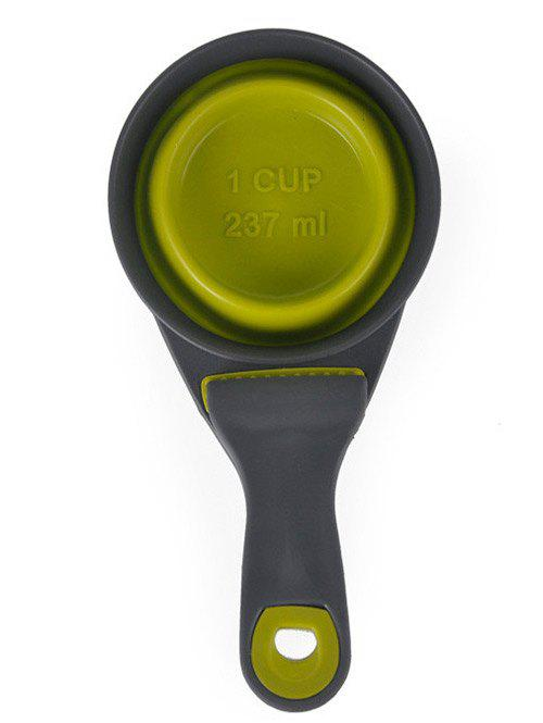 Pet Dog Folding Silicone Scoop - GREEN