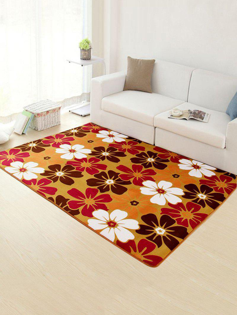 Flower Non-Slip Water Absorption Rug - COLORMIX 50*80CM