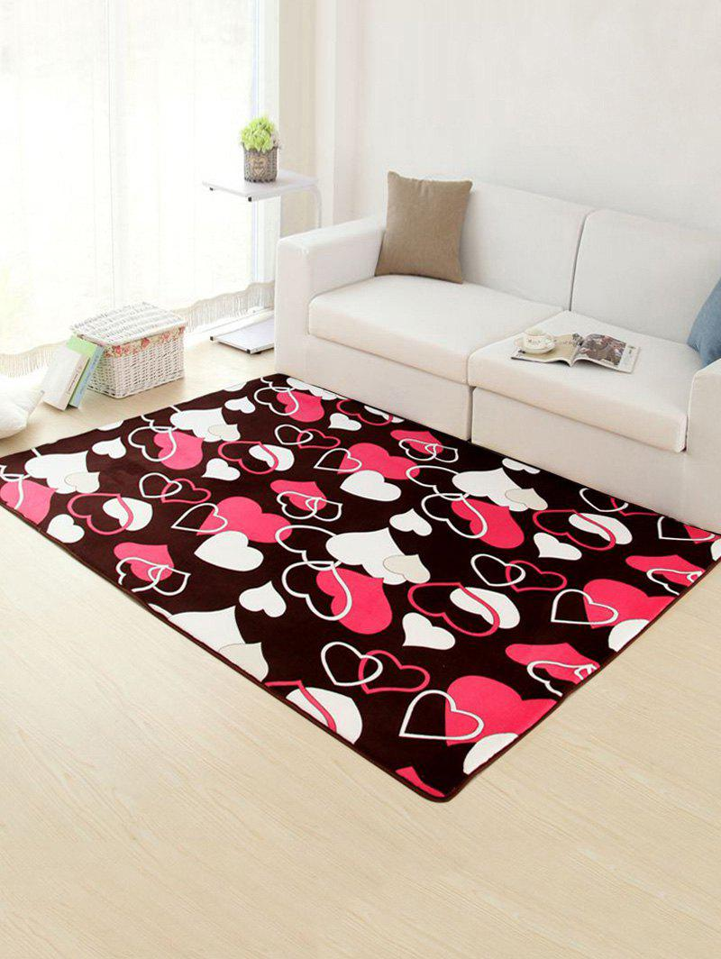 Heart Pattern Skidproof Room Floor Rug - DEEP BROWN 50*80CM