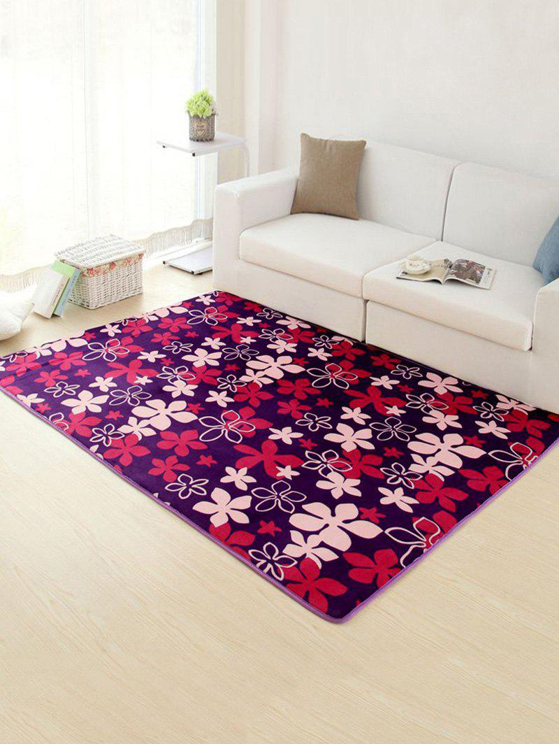 Flower Pattern Soft Absorbent Floor Rug - VIOLET 50*80CM