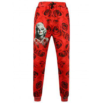 Figure Printed Jogger Pants