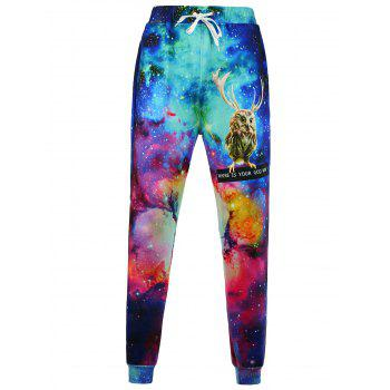 3D Animal Printed Jogger Pants
