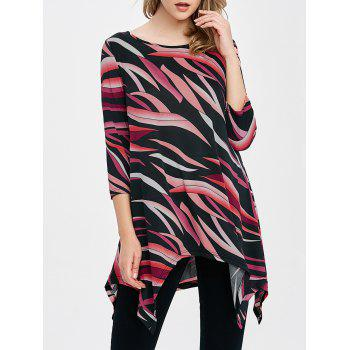 Graphic Asymmetrical Baggy T-Shirt