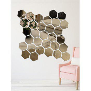 12 Pcs 3D Hexagon Removable Artistic Wall Sticker