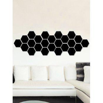 12 Pcs Removable 3D Hexagon Wall Sticker