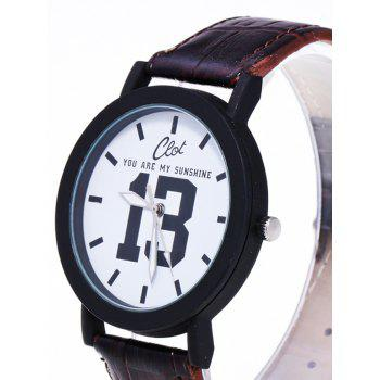 1314 Forever Faux Leather Quartz Watch -  BROWN