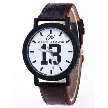 1314 Forever Faux Leather Quartz Watch