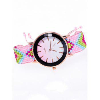 Beads Braided Bracelet Watch