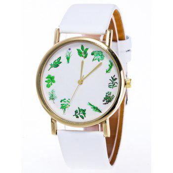 Flower Plant Pattern Analog Watch