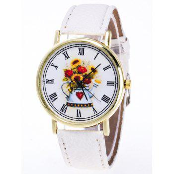 Flower Pattern Roman Numerals Watch