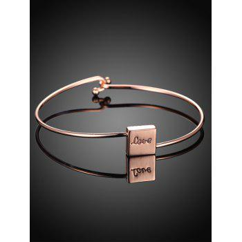 Engraved Plated Bracelet