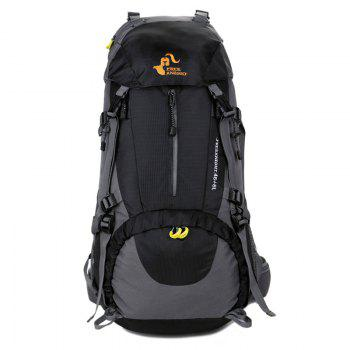 FreeKnight 50L Mountaineering Backpack with Rain Cover - BLACK