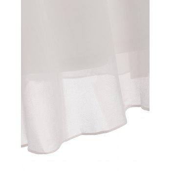 Lace Insert Long Sleeve Tunic Top - WHITE XL
