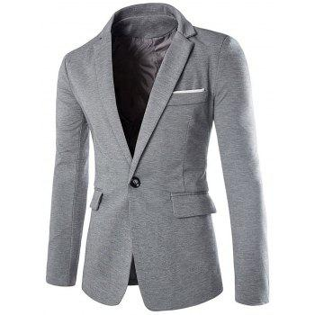 Cotton Blends Lapel One Button Blazer
