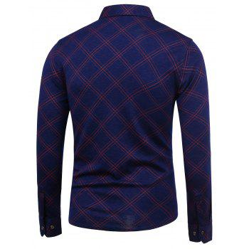 Checked Long Sleeve Shirt - RED RED