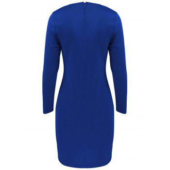 Long Sleeve Mini Bodycon Cut Out Bandage Dress - 2XL 2XL