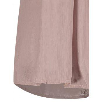 Sans manches en dentelle Criss Cross Chemisier en mousseline - Pale Rose Gris 2XL