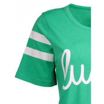 Varsity Striped Lucky Funny Graphic Tees - 2XL 2XL
