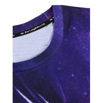 T-shirt imprimé à manches courtes 3D Galaxy fille - multicolorcolore L