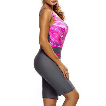 Ombre Sporty Shorts One Piece Swimsuit - TUTTI FRUTTI TUTTI FRUTTI