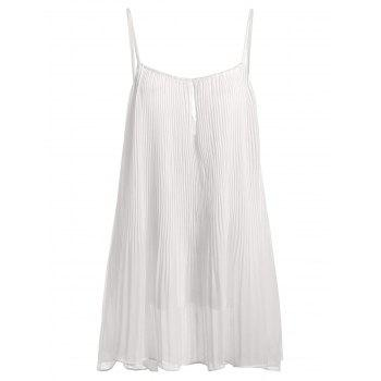Pleated Chiffon Tank Top