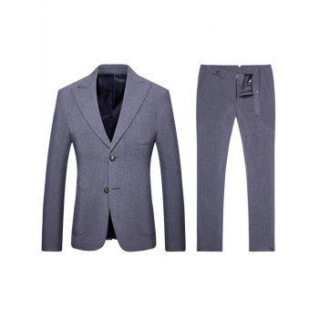 Single Breasted Turndown Collar Pocket Twinset Suit