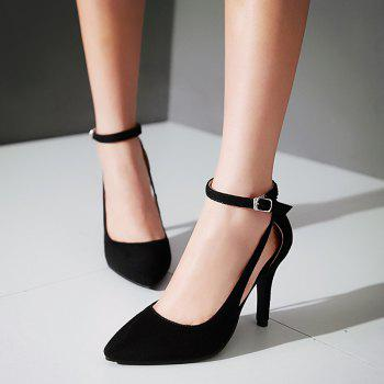 Hollow Out Ankle Strap Pumps