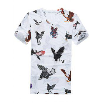 3D Eagle Print Breathable Short Sleeve T-Shirt