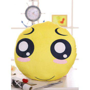 Round Shape Face Expression Soft Blush Pillow
