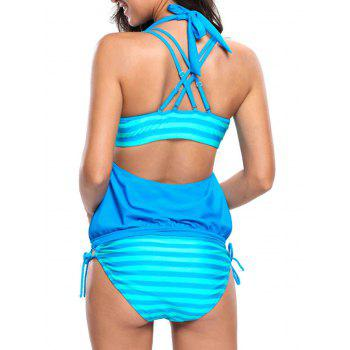 Strappy Padded Bikini Three Piece Swimsuit
