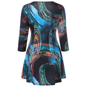 Sample Graphic Fit and Flare Mini Dress - 2XL 2XL