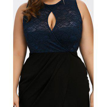 Keyhole Neck Plus Size Short Cocktail Dress - 4XL 4XL