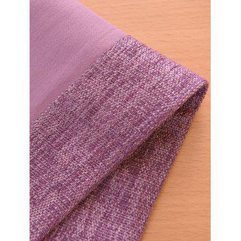 Screening Embroidery Blackout Window Curtain - VIOLET 100*250CM