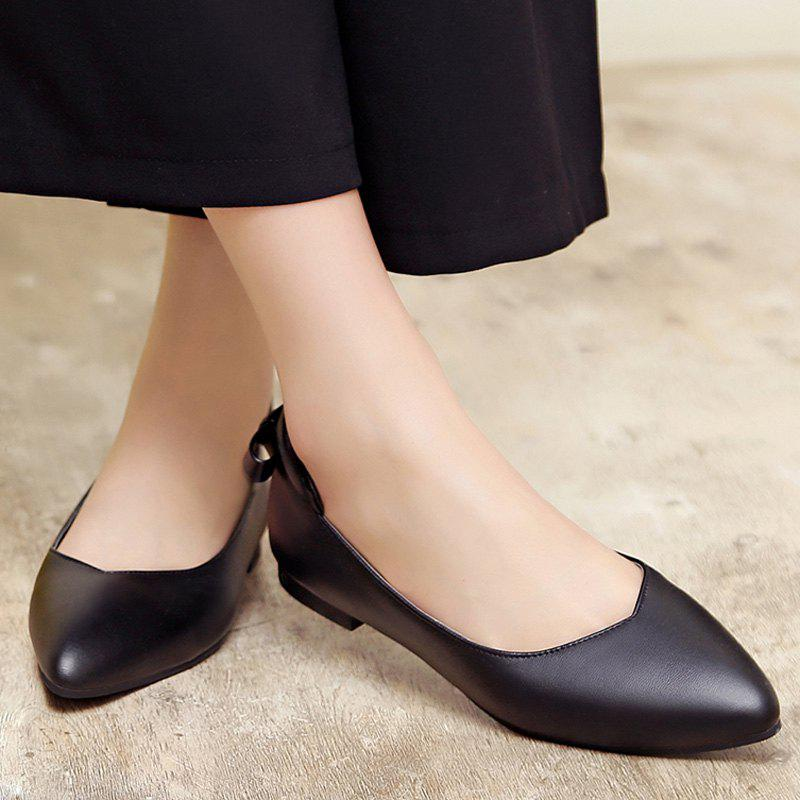 pointed toe bowkot flat shoes black in flats dresslily