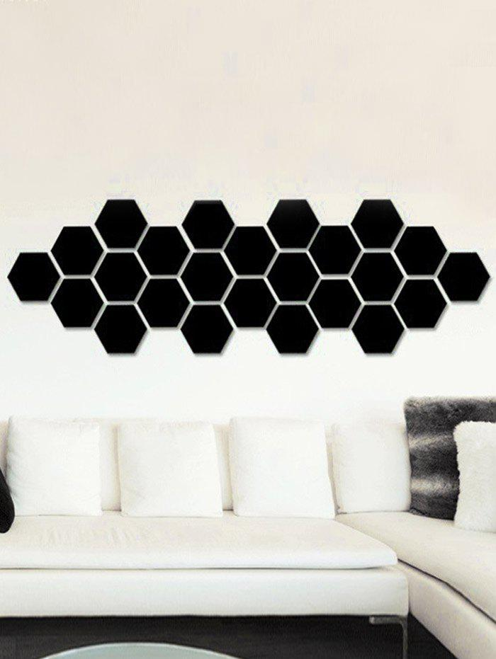 12 Pcs Removable 3D Hexagon Wall Sticker 3d blooming rose interior removable wall sticker