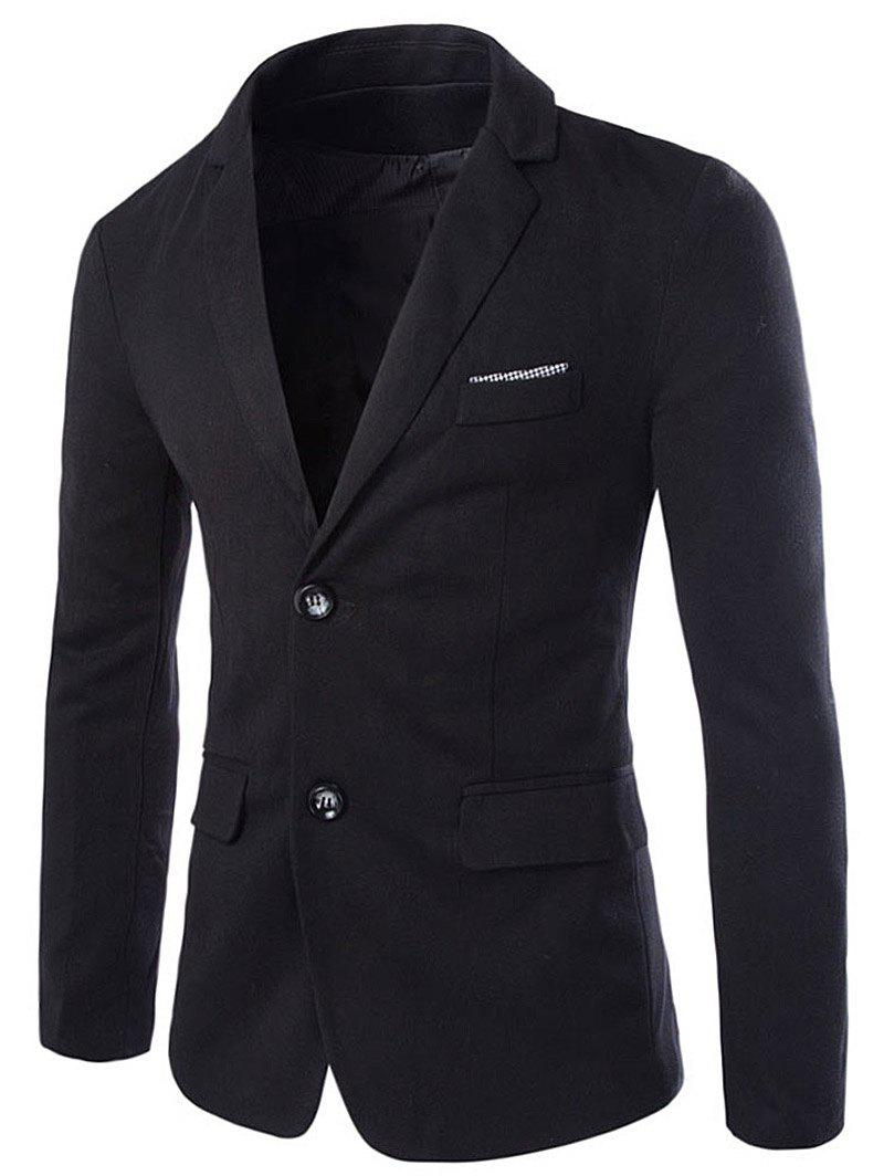Swallow Gird Panel Single Breasted Blazer - BLACK L