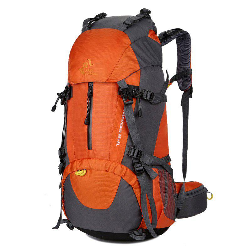 FreeKnight 50L Mountaineering Backpack with Rain Cover - DARKSALMON