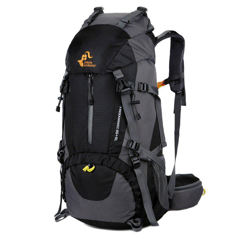 FreeKnight 50L Alpinisme Sac à dos avec Rain Cover - Noir