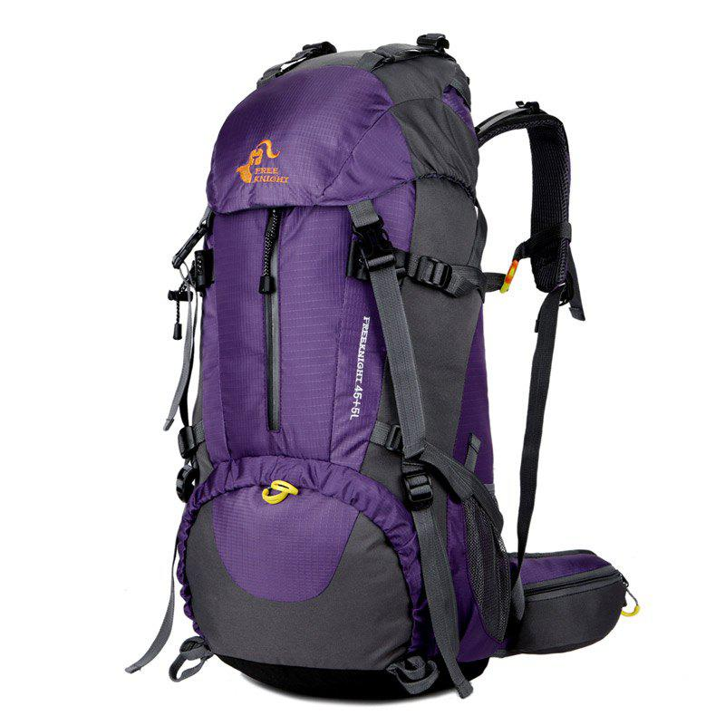 FreeKnight 50L Mountaineering Backpack with Rain Cover - PURPLE