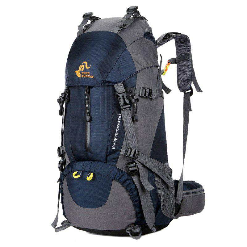 FreeKnight 50L Mountaineering Backpack with Rain Cover - DEEP BLUE